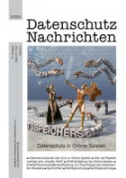 DANA 03/2011: Datenschutz in Online-Spielen
